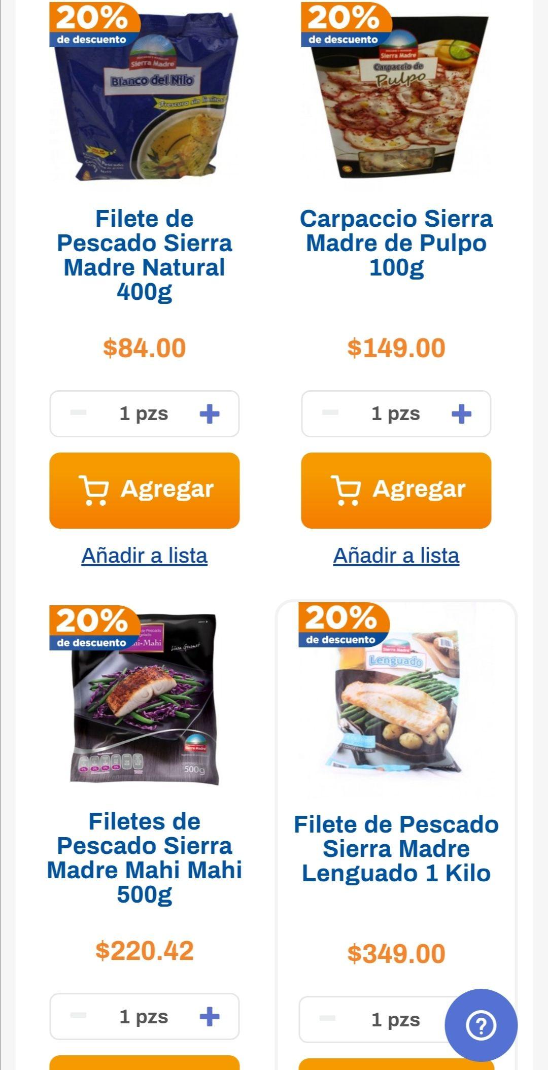 Chedraui: 20% de descuento en productos Sierra Madre, Blanco del Nilo y Neptuno seleccionados