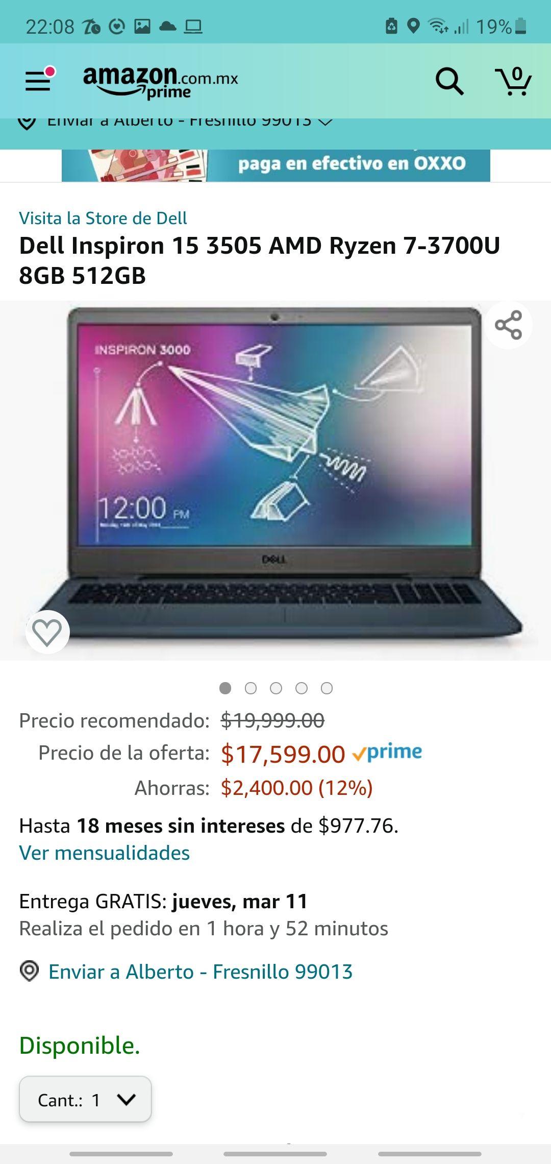 Amazon: Laptop dell
