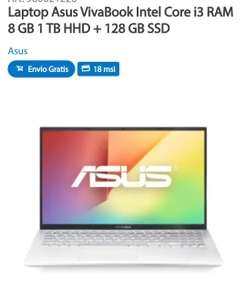 Sam's Club: Laptop Asus VivaBook Intel Core i3 RAM 8 GB 1 TB HHD + 128 GB SSD