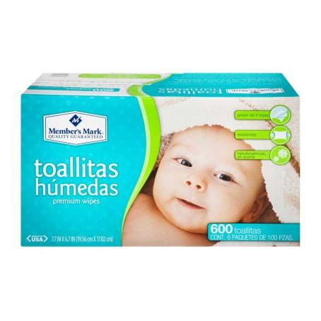Sam's Club: Toallitas Húmedas Member's Mark 600 pzas