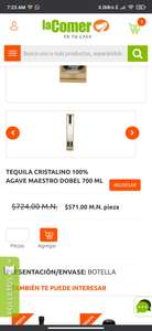 La Comer Maestro dobel diamante 700 ML