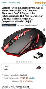 Amazon Victising Mouse Inalámbrico Gamer