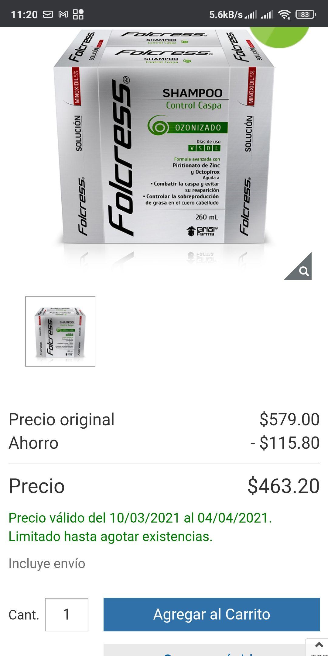 Costco : Kit Capilar Folcress 4 pack