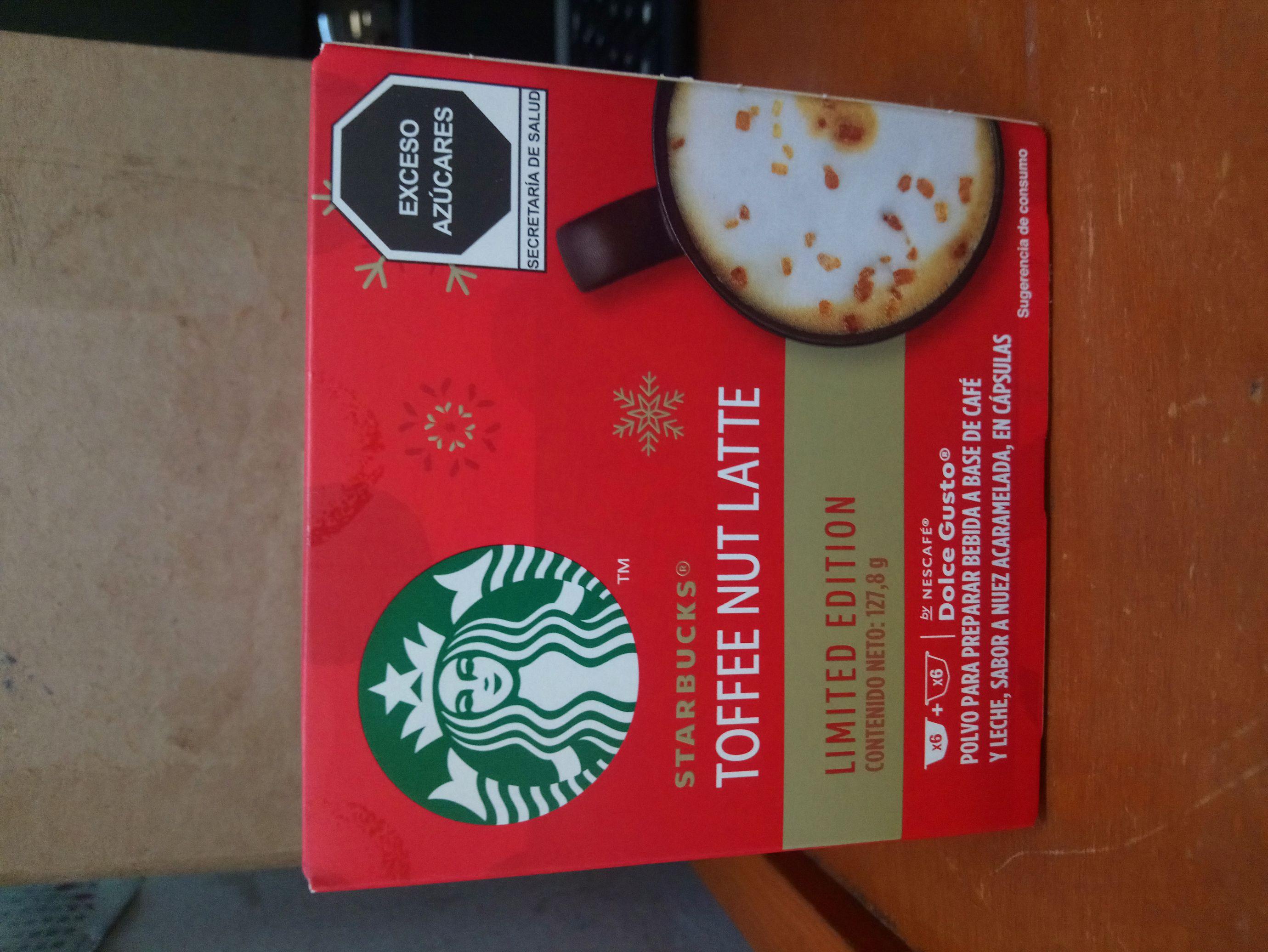 Walmart: $33.01 Cápsulas Dolce Gusto Starbucks Tofee Nut Latte
