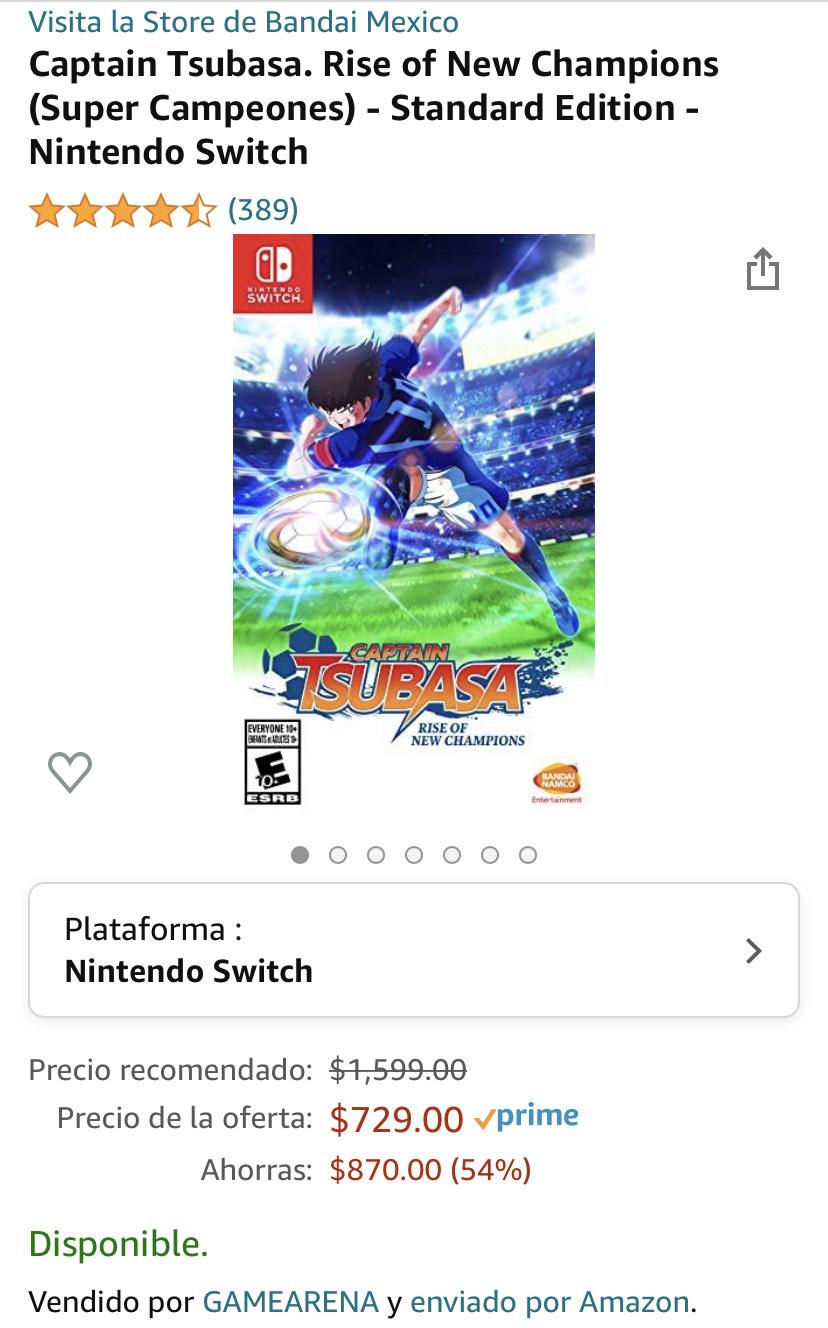 Captain Tsubasa Nintendo Switch enviado por Amazon México