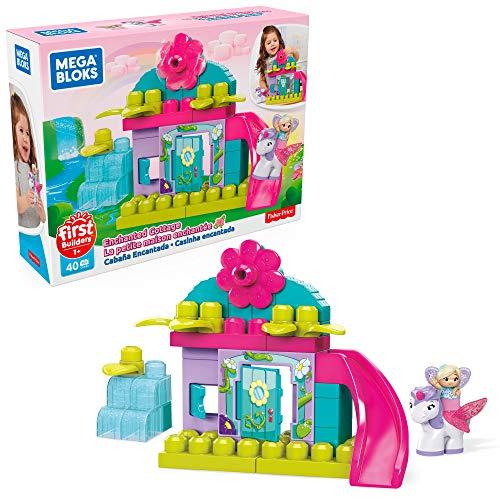 Amazon: Mega Bloks Juguete para Bebés First Builders Hadas de Las Flores Cabañita Encantada, Multicolor