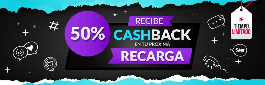 UnDosTres ¡Aprovecha la promo antes de que termine! Recarga ya y obtén hasta 50% Cashback.