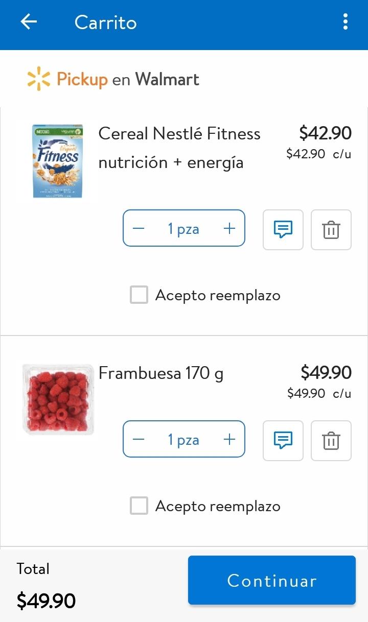 Walmart: Paquete de Cereal Nestlé Fitness 600 g + Frambuesa 170 g o Zarzamora 170 g