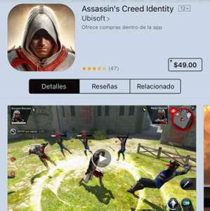 Assassins Creed Identity iOS y Android $49