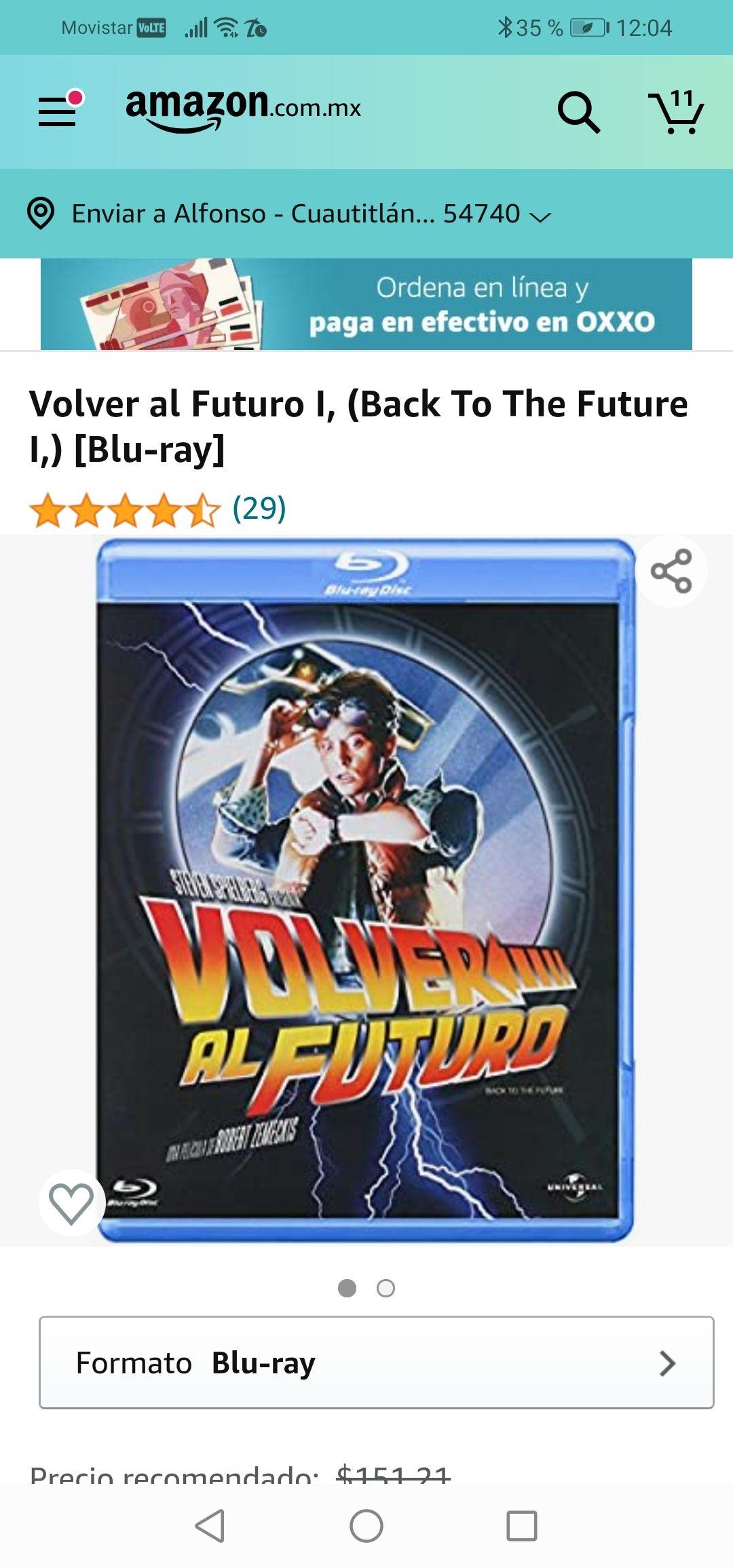 Amazon: Volver al Futuro I, (Back To The Future I,) [Blu-ray]