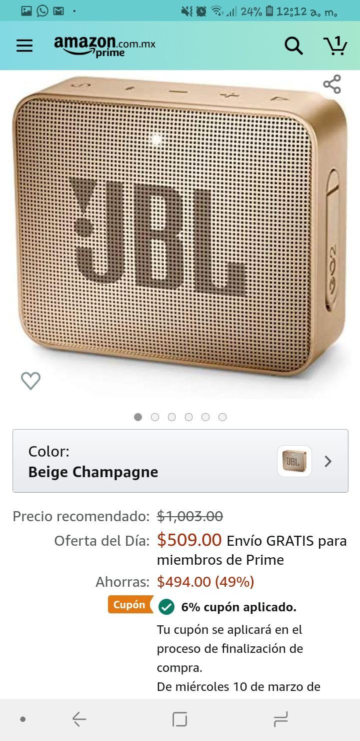 Amazon: JBL go 2 champagne