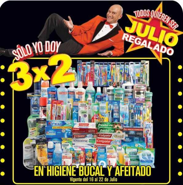 Julio Regalado 16/07: 3x2 en higiene bucal y afeitado