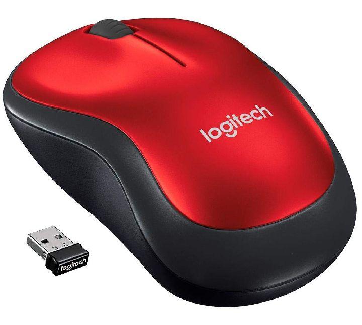 Amazon Mouse Inalámbrico Logitech M185 Rojo