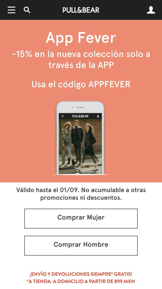 Pull&Bear:  15% Descuento desde la App con cupón