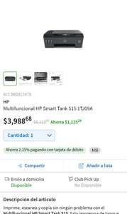 Sam's Club: Hp Smart tank 515