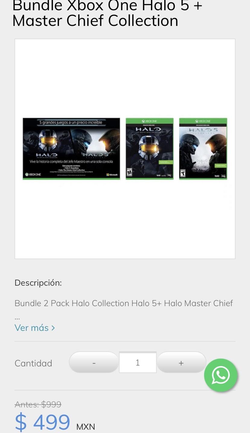 Sanborns Halo Master Chief Collection + Halo 5