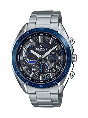 Amazon: Casio Edifice Reloj de cuarzo para hombre, correa de acero inoxidable, plateado, 22 ocasiones casuales (Modelo: EFR-570DB-1BVCR)