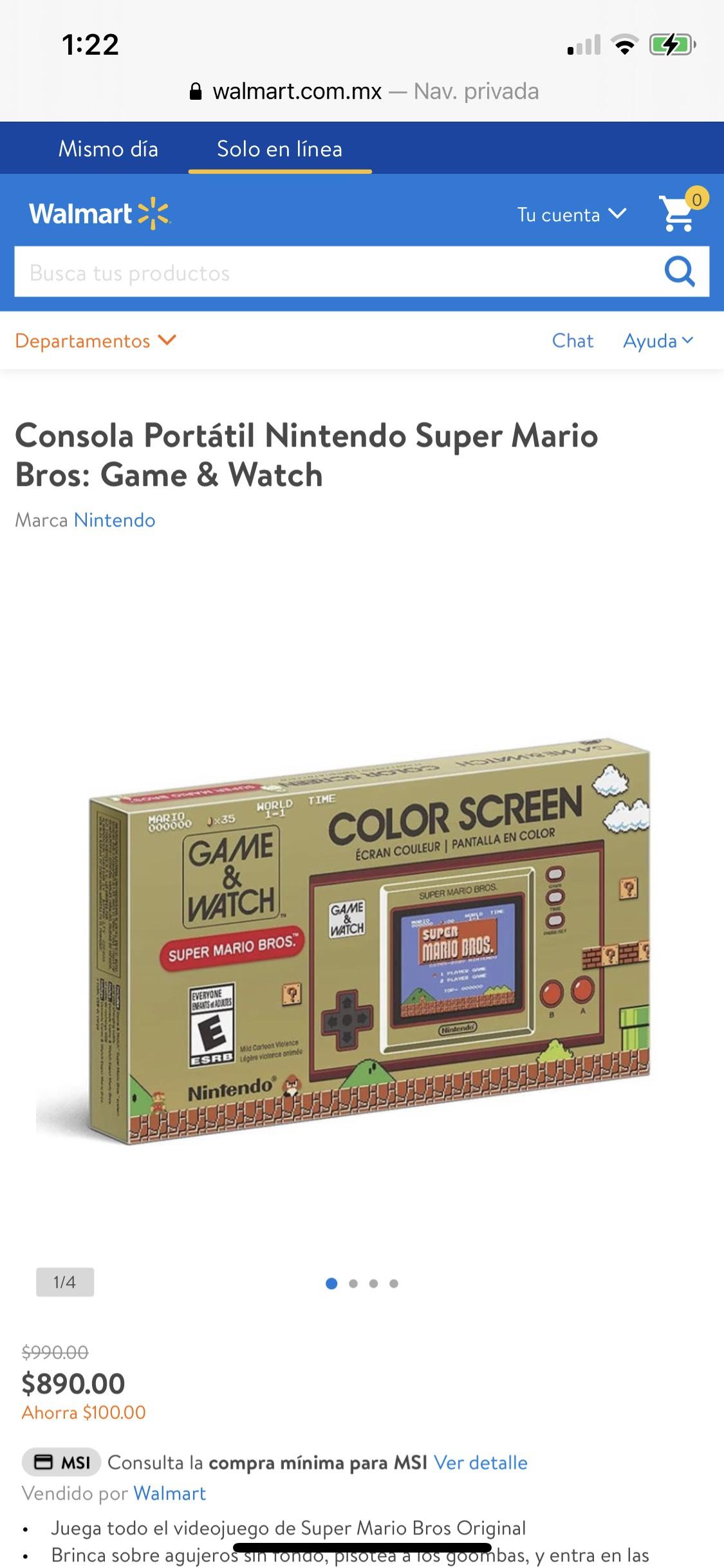 Walmart Nintendo Game & Watch $890