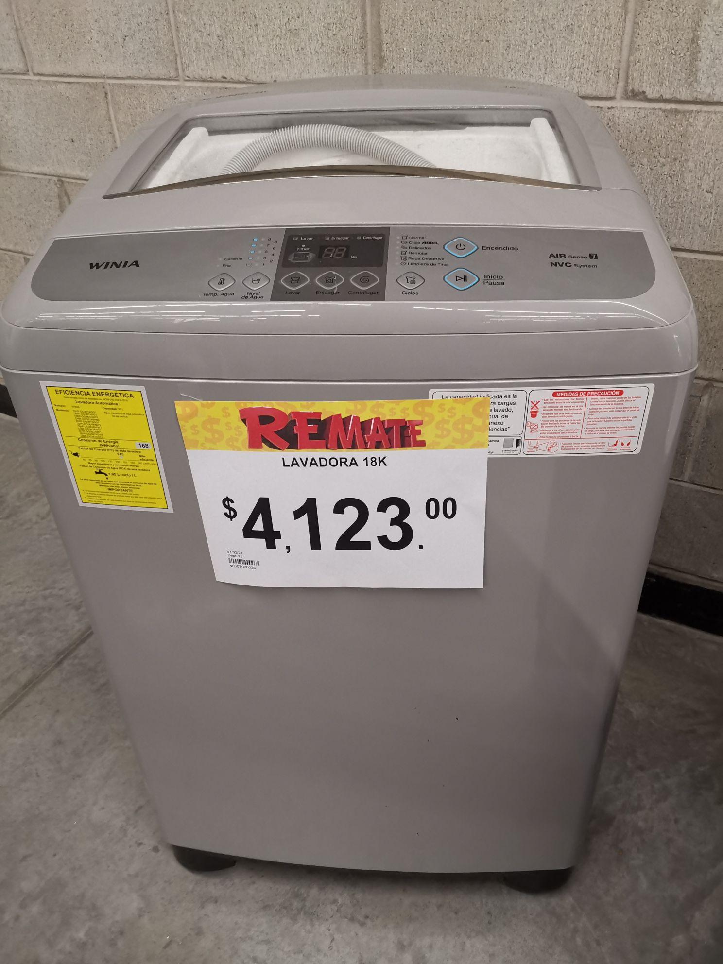 Bodega Aurrerá: Lavadora automática winia 18K gris