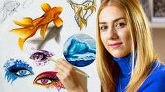 Udemy: Masterclass: Drawing, Design & Creativity with Color Pencil