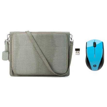 "HP en línea: Maletín HP Sleeve de 14"" + Mouse HP X3000-Azul"