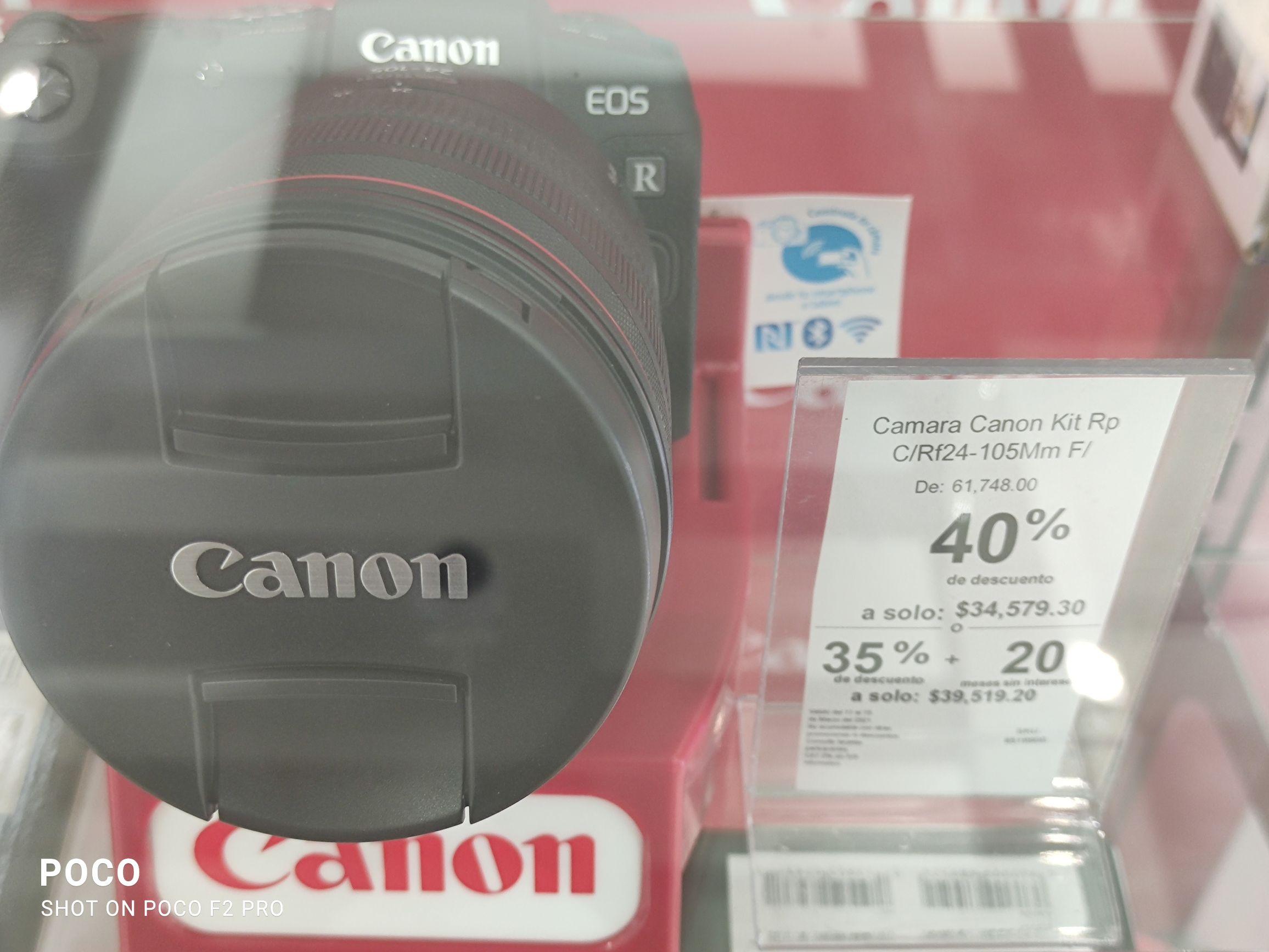 SANBORNS-. CANON EOS RP 24-105mm FULL FRAME de Regalo Camara Mini Replica Eos 5D Mark IV