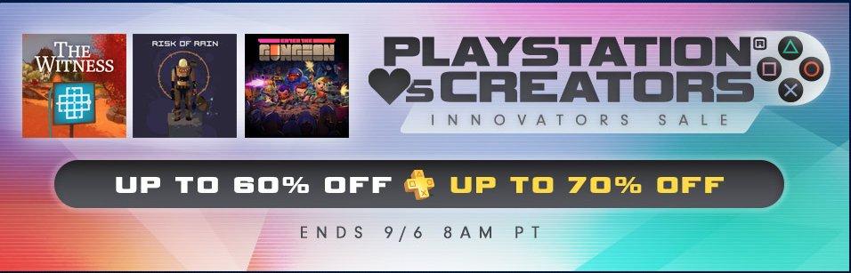 Playstation network - innovators sale , juegos con hasta el 70% de descuento