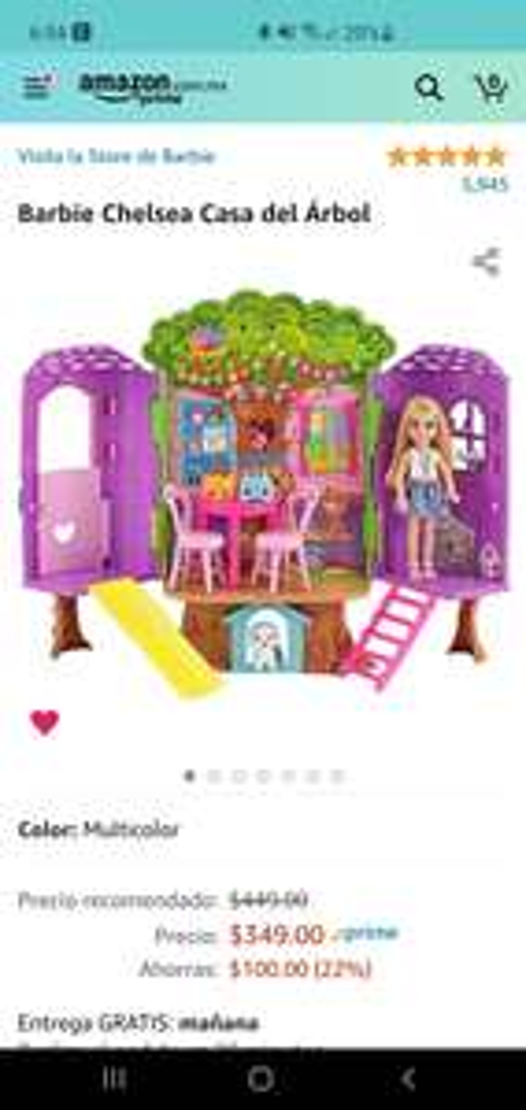 Amazon: Barbie Chelsea Casa del Árbol