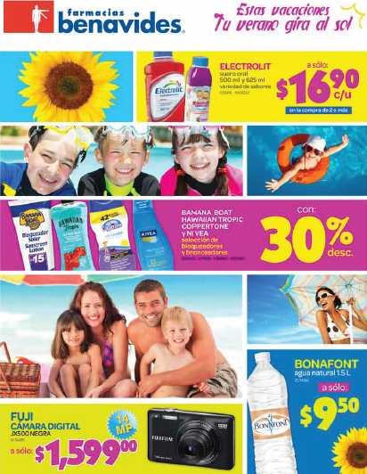 Folleto Farmacias Benavides: 3x2 en desodorante Secret, 30% de descuento en bronceadores y más