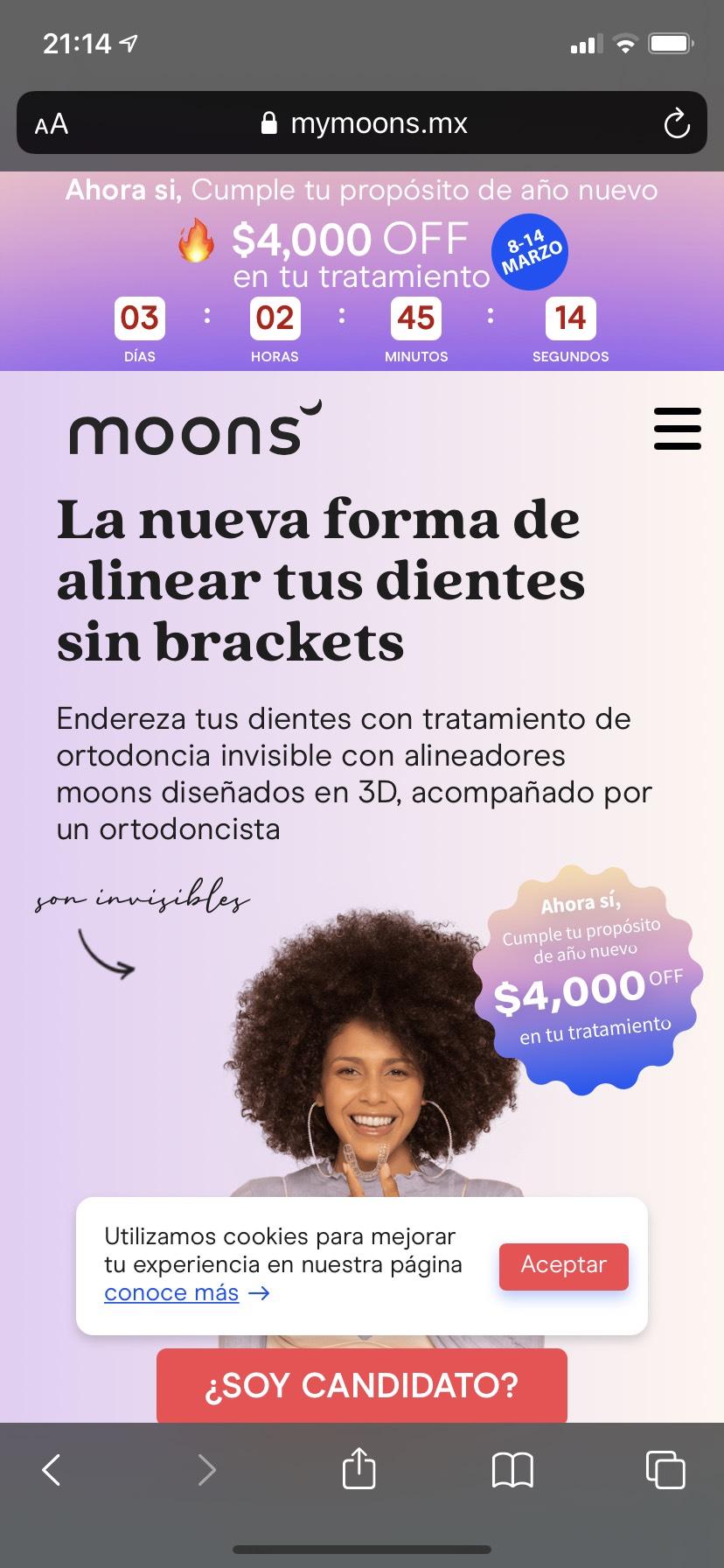 Moons: Alineadores dentales para tus dientes chuecos