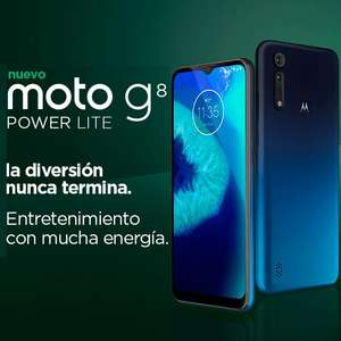 Linio: Moto G8 Power Lite Dual Sim 4GB/64GB Azul Turquesa (con Citibanamex)