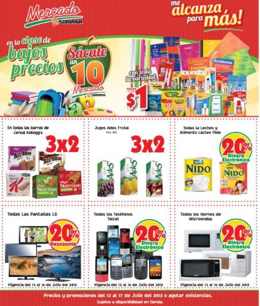 Mercado Soriana: 20% en monedero en leche Nido, microondas, celulares Telcel y más