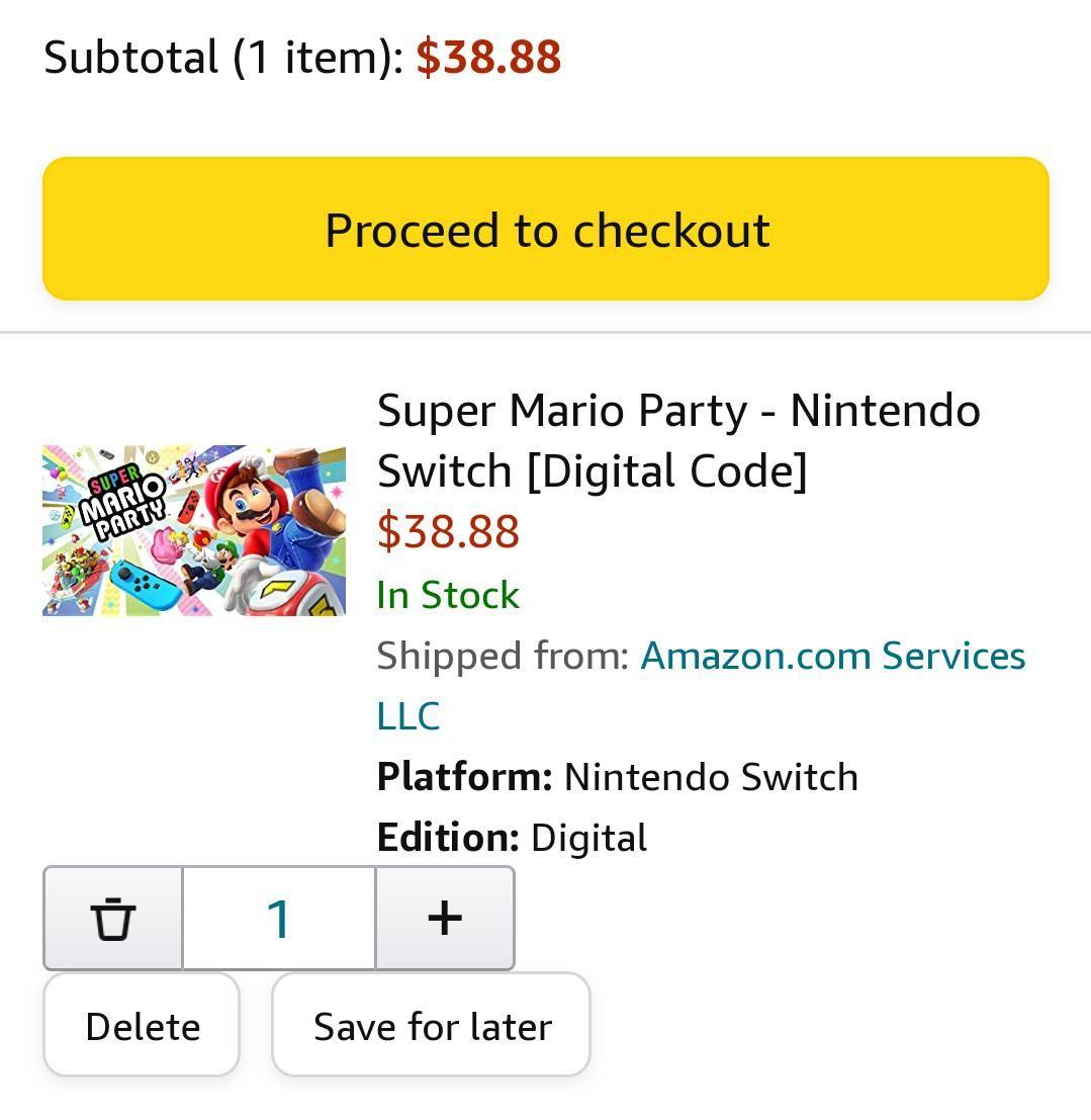 Amazon EU: Mario Party y otros juegos de Mario para Switch (Digital)