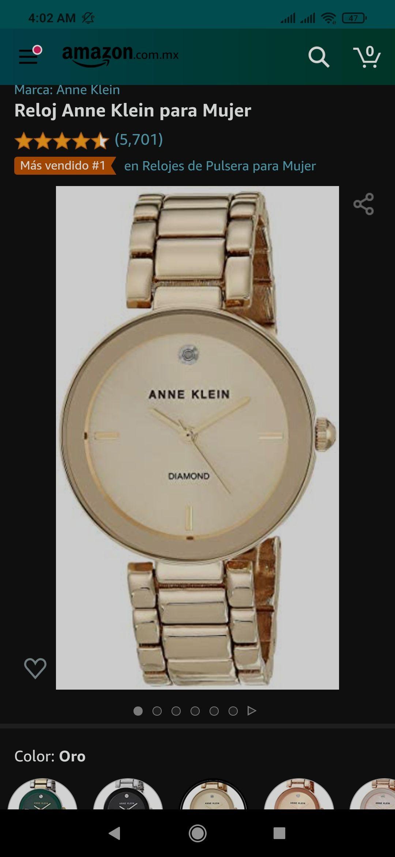 Amazon Reloj para dama Anna Klein