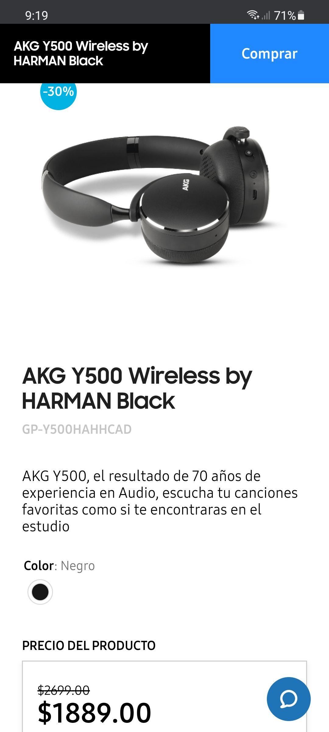 Samsung store, AKG Y500 Wireless by HARMAN Black