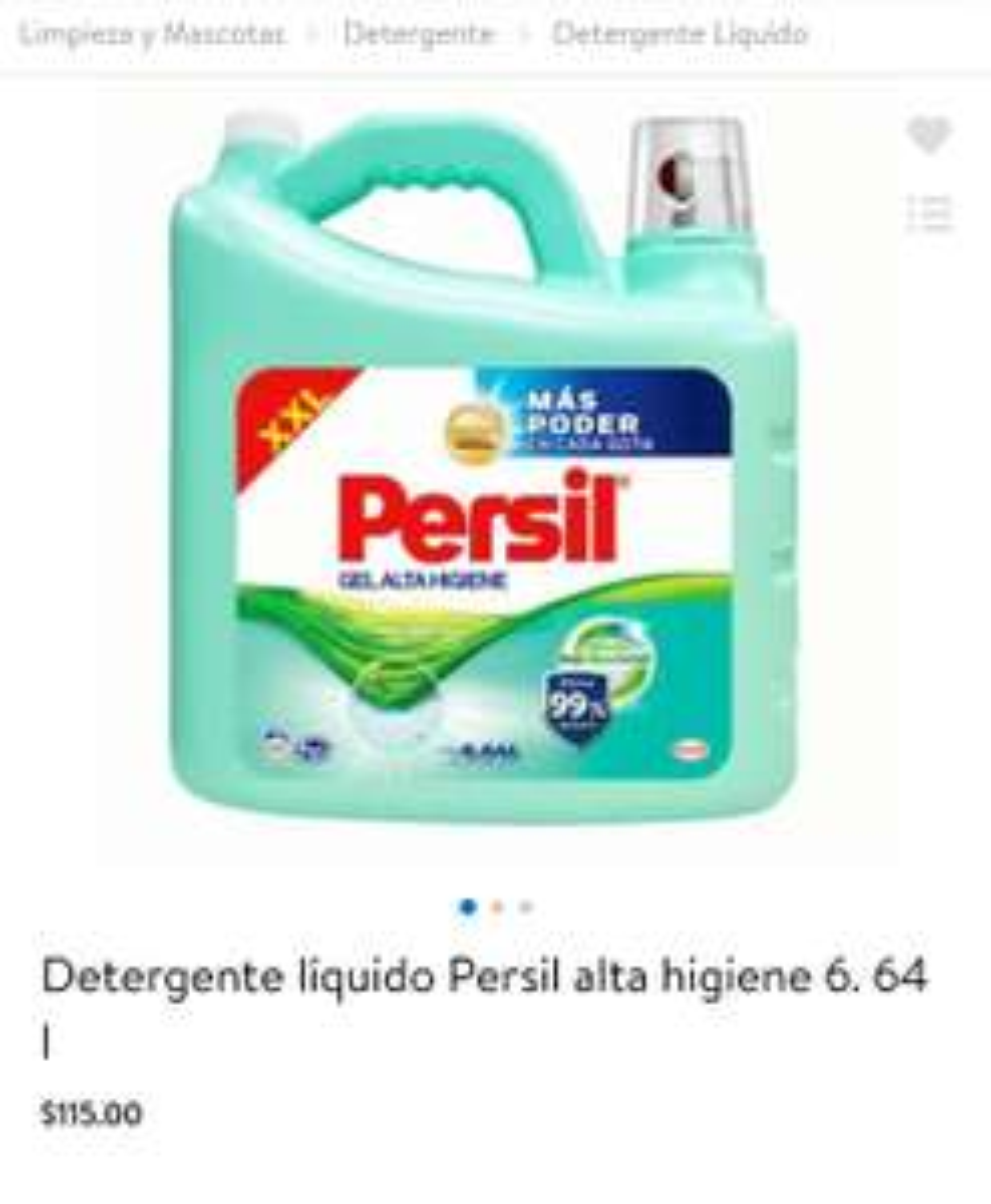 Walmart, Persil alta higiene 6.64 litros