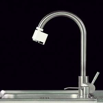 Banggood Adaptador de llave sin contacto, sensor infrarrojo automático de cocina baño fregadero de ahorro de agua sensor de movimiento