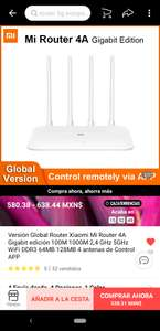 AliExpress: Router Xiaomi 4A Edición Gigabit, versión Global