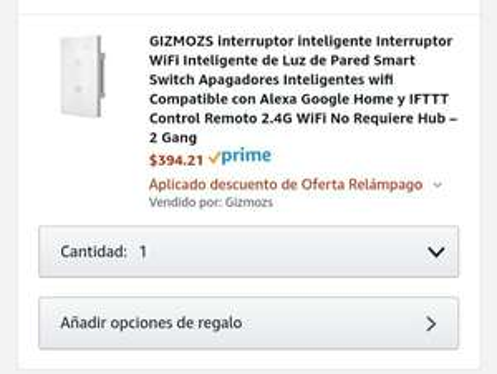 Amazon: APAGADOR WIFI ALEXA GOOGLE HOME 2 gang