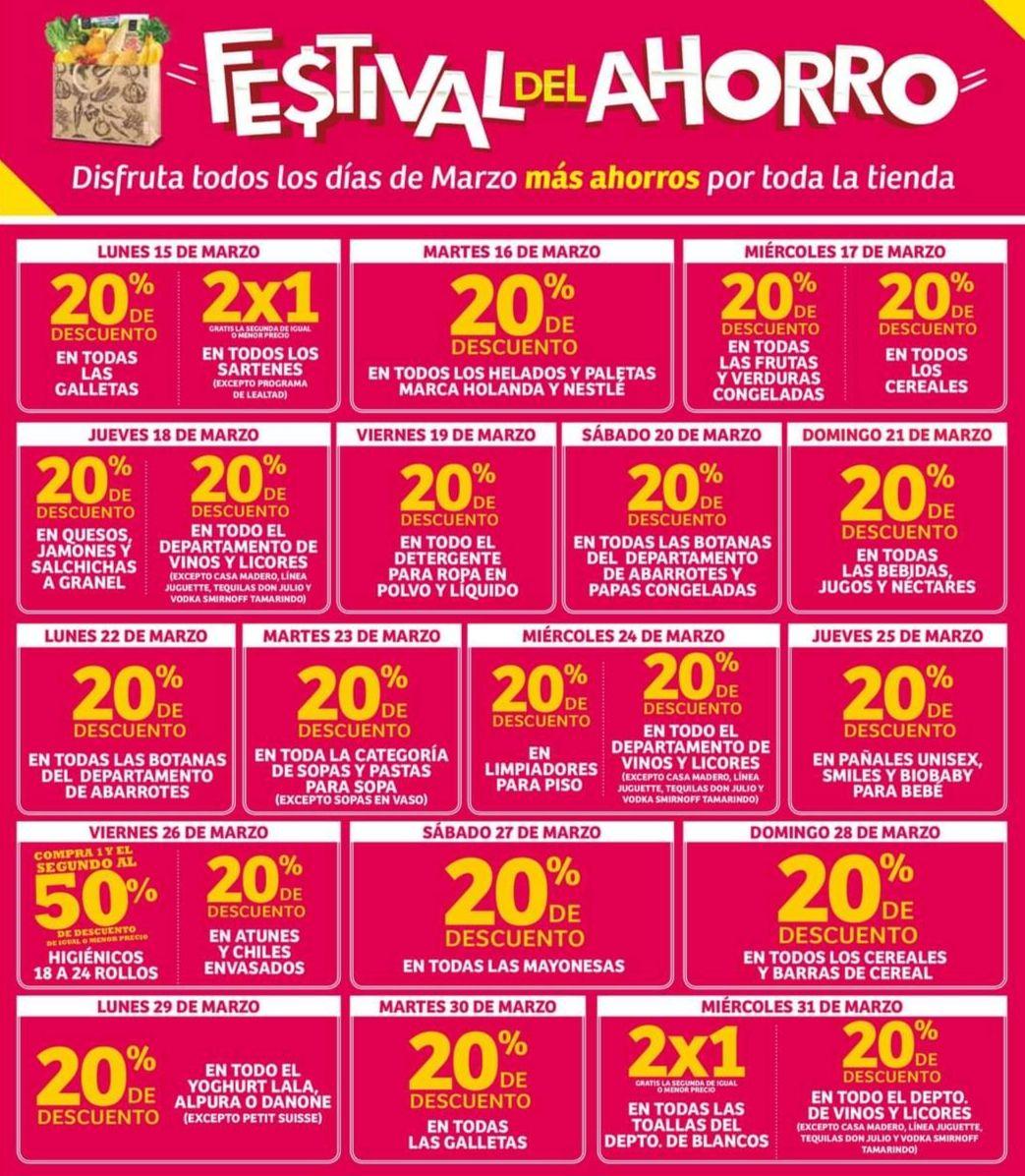 Soriana Híper y Súper: Calendario de Ofertas del Viernes 12 al Miércoles 31 de Marzo (diario diferente promoción)