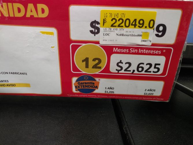 """Walmart Universidad: Pantalla Smart TV de 70""""  LG 4K Ultra HD"""
