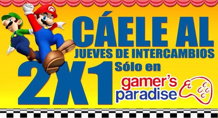 Gamers Paradise: jueves de 2x1 en intercambio de juegos seminuevos