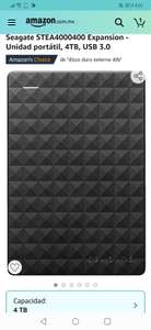 Amazon : disco duro Seagate STEA4000400 Expansion - Unidad portátil, 4TB, USB 3.0