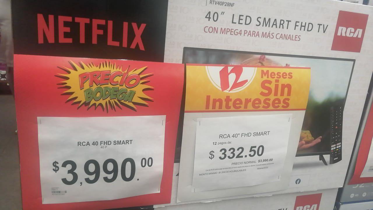 Bodega Aurrera R1 Ecatepec: Smart TV RCA 40 Pulgadas