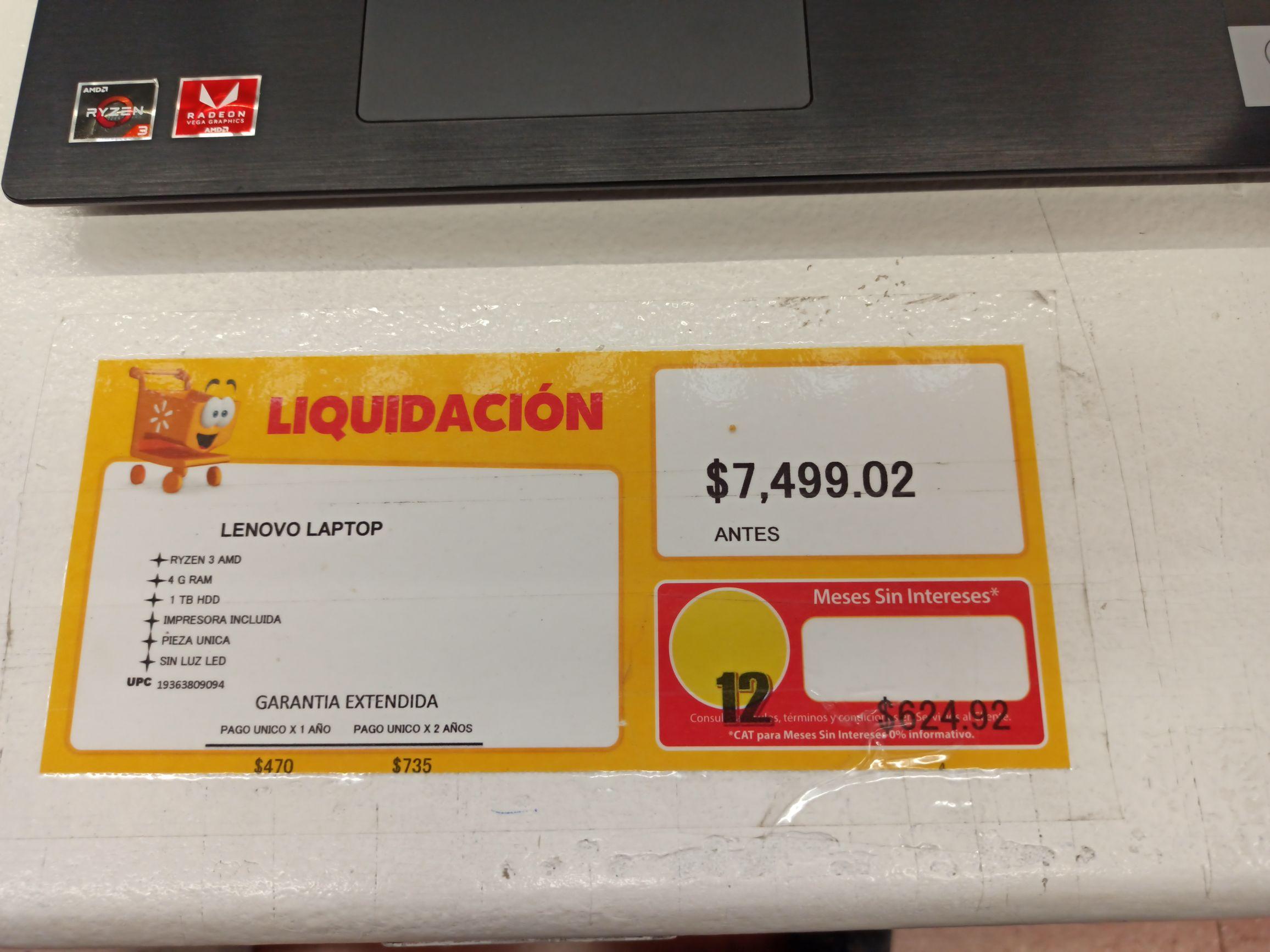 Walmart: Laptop Lenovo Ideapad L340