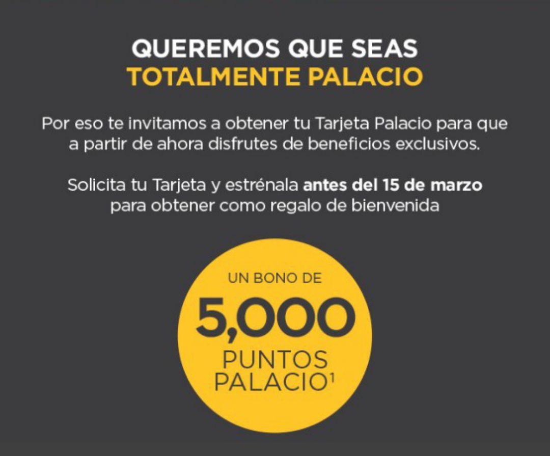 El Palacio de Hierro: $500 de regalo después de 1er compra de $1,500