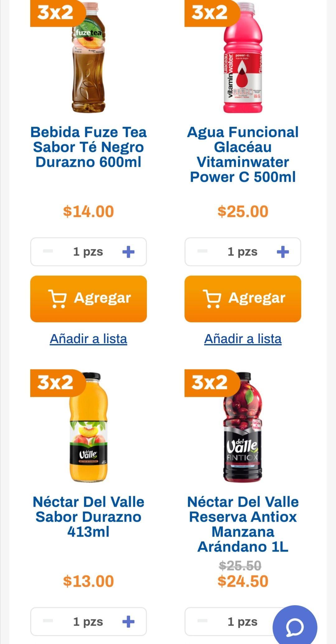 Chedraui: 3 x 2 en bebidas Ades, Del Valle y Fuze Tea seleccionadas