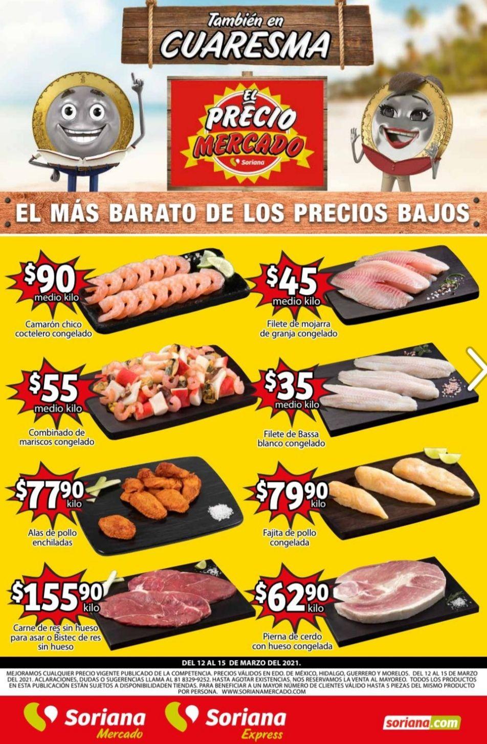 Soriana Mercado y Express: Volante de Ofertas Fin de Semana del Viernes 12 al Lunes 15 de Marzo