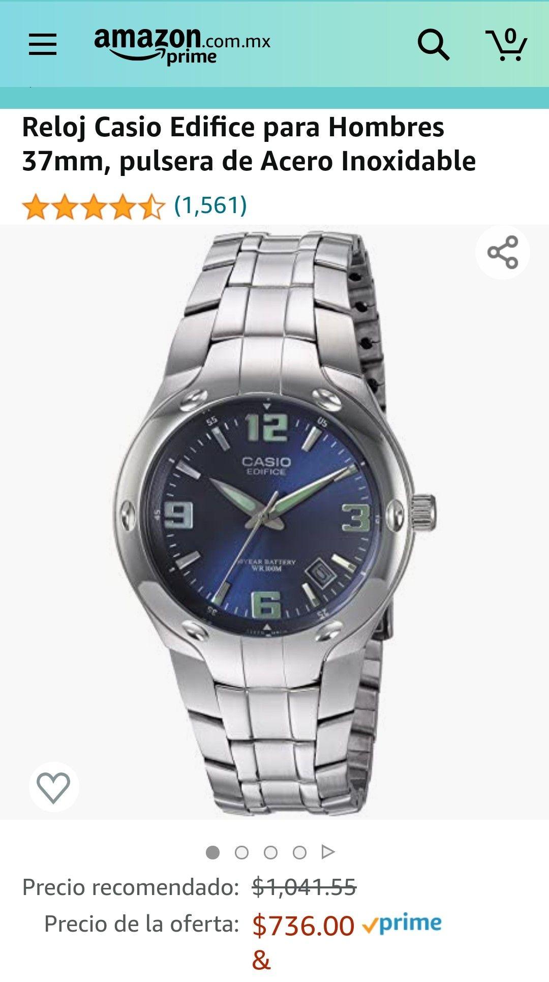 Amazon: Reloj Casio Edifice para Hombres 37mm