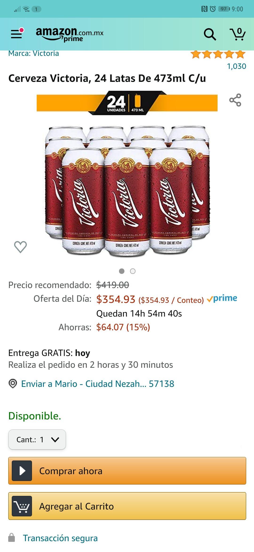Amazon: Latón Victoria 473 ml ( 14.8 cada lata)